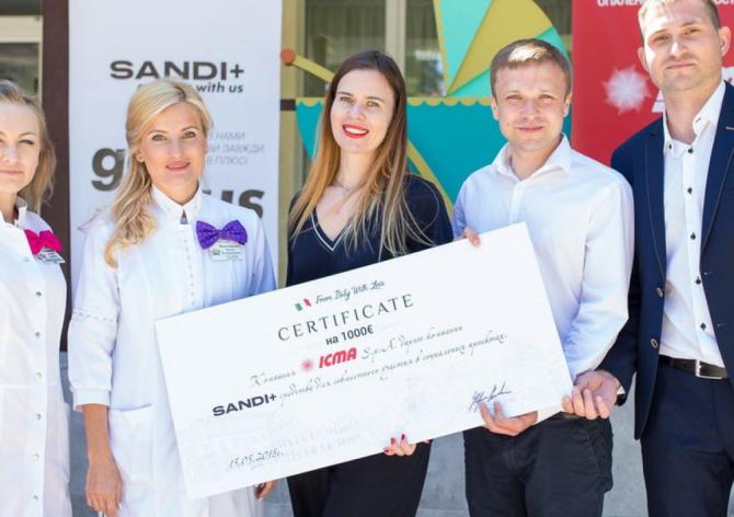 Соціальний проект SANDI + спільно з ICMA S.P.A.
